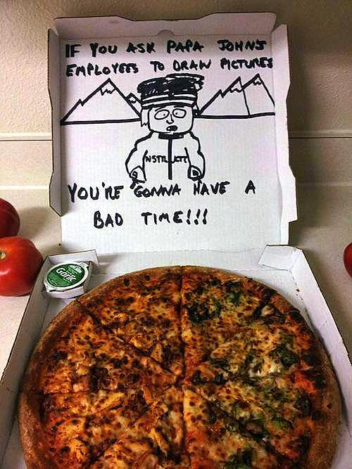 pizza box drawings south park Special Delivery Instructions