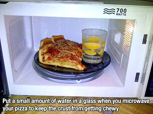 pizza in microwave life hack