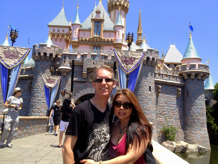 Troy and Brenna at Disneyland Cinderella's Castle