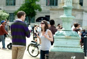 couple arguing in public relationships