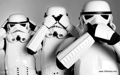 star wars storm trooper three Wise Monkeys