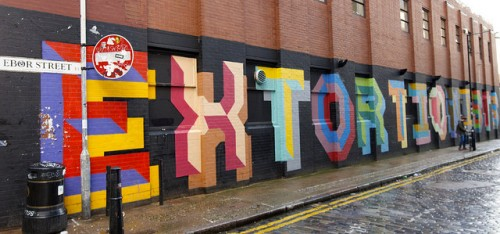 extortion graffitti